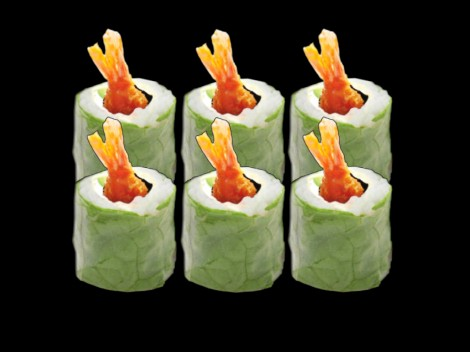 Galette rolls crevette tempura spicy